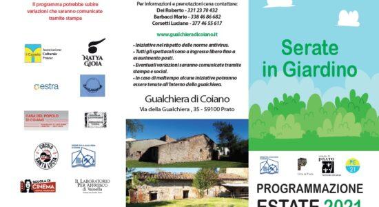 Serate in giardino - Programmazione Estate 2021