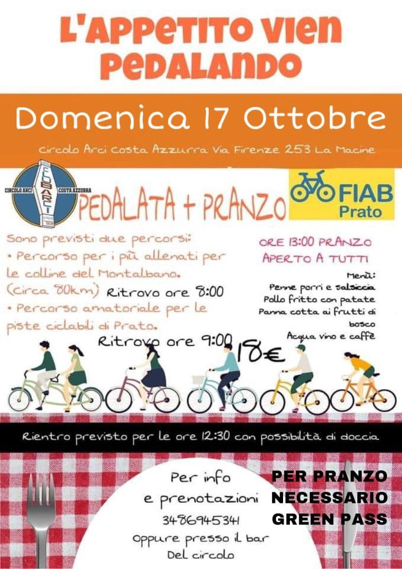pedalata costa azzurra 16 ottobre