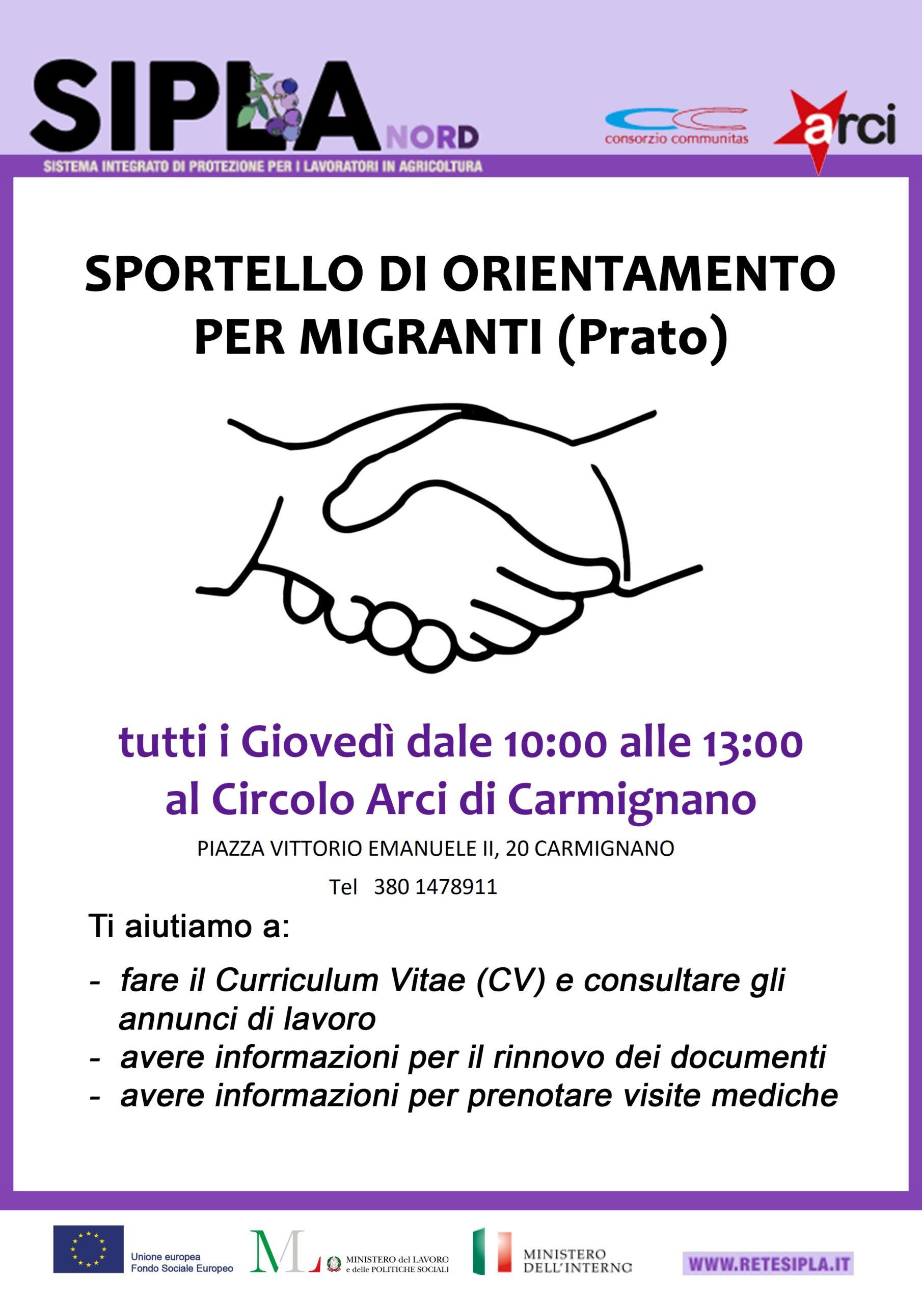 sportello migranti SIPLA_ila